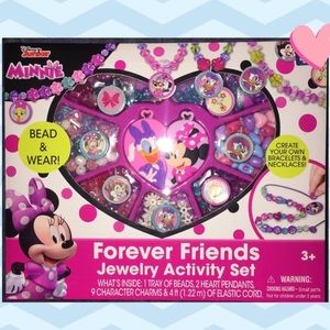 New Minnie Mouse Forever Friends Jewelry Set